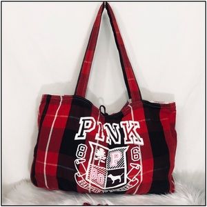 💞Victoria's Secret, Pink reversible beach tote